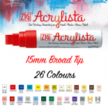 Zig Acrylista 15mm Broad tip paint marker Mega Pack